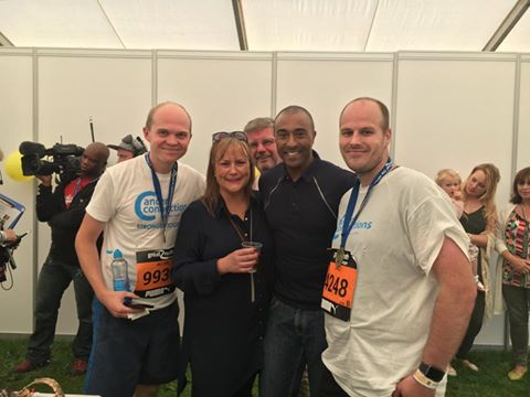 GNR2016 Colin Jackson with some of CC's runners